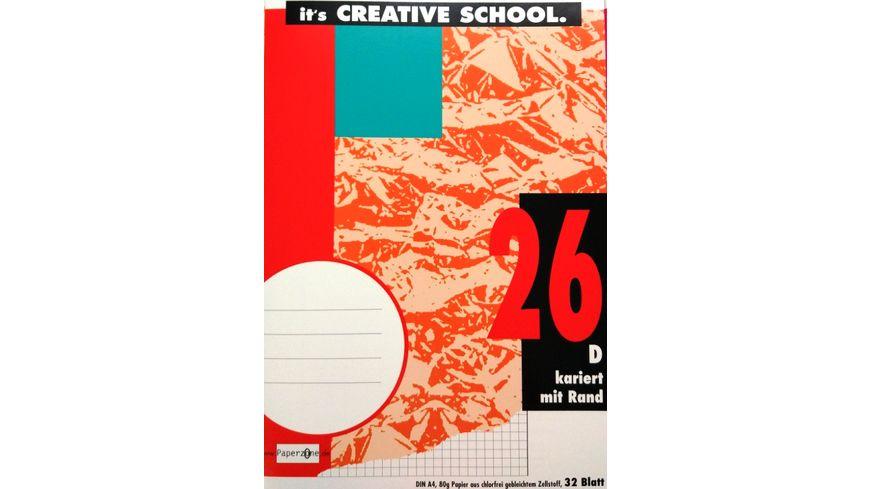 PAPERZONE Heft A4 Lineatur 26 32 Blatt