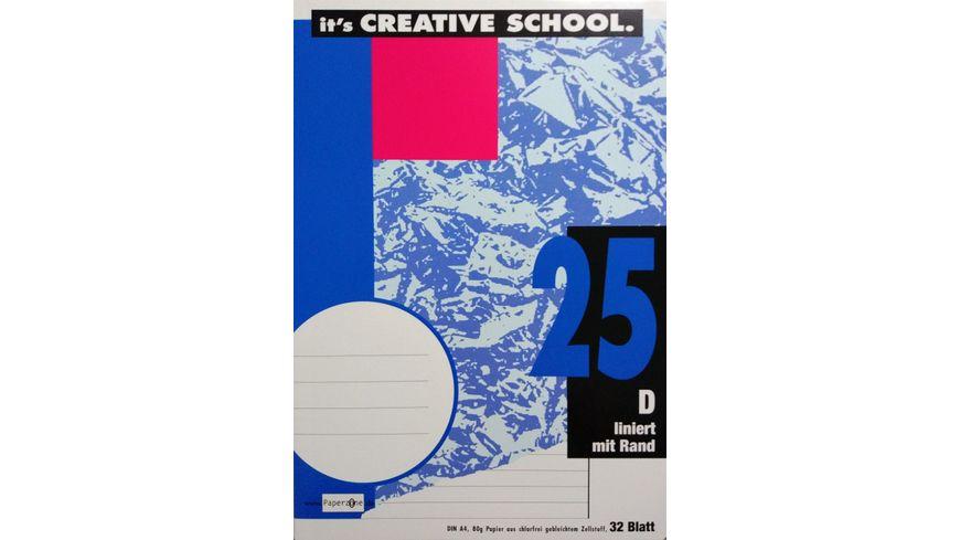PAPERZONE Heft A4 Lineatur 25 32 Blatt