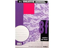 PAPERZONE Heft A5 Lineatur 8f 16 Blatt