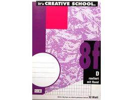 PAPERZONE Heft A5 Lineatur 8f 32 Blatt