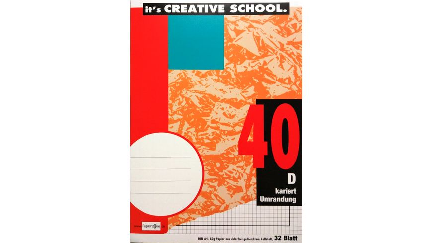 PAPERZONE Heft A4 Lineatur 40 32 Blatt