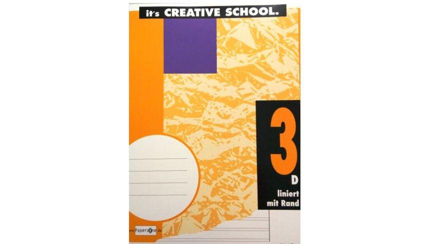 PAPERZONE Heft A4 Lineatur 3 mit Rand 16 Blatt