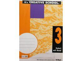 PAPERZONE Heft A5 Lineatur 3 mit Rand 16 Blatt