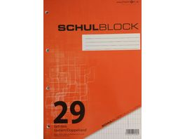 PAPERZONE Schulblock A4 Lineatur 29 50 Blatt
