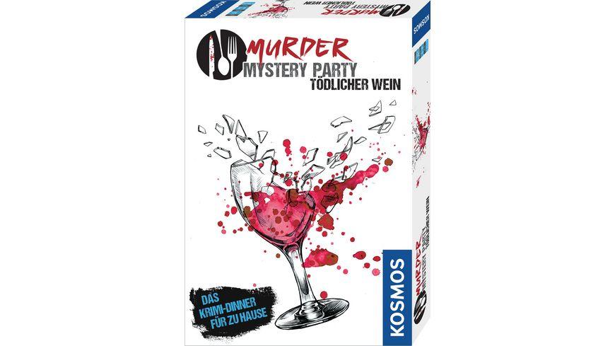 KOSMOS Murder Mystery Party Toedlicher Wein Das Krimi Dinner fuer zu Hause