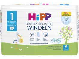 HiPP Babysanft Windeln Newborn 1 Einzel 2 5 kg Groesse 50 56 24 St