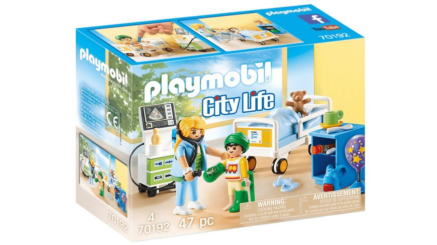 PLAYMOBIL 70192 City Life Kinderkrankenzimmer