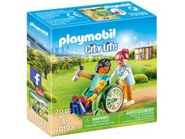 PLAYMOBIL 70193 City Life Patient im Rollstuhl