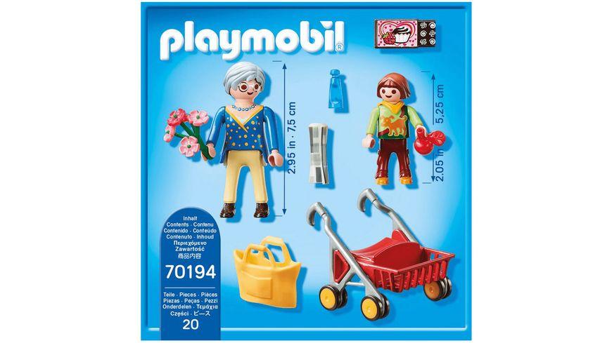 PLAYMOBIL 70194 City Life Oma mit Rollator