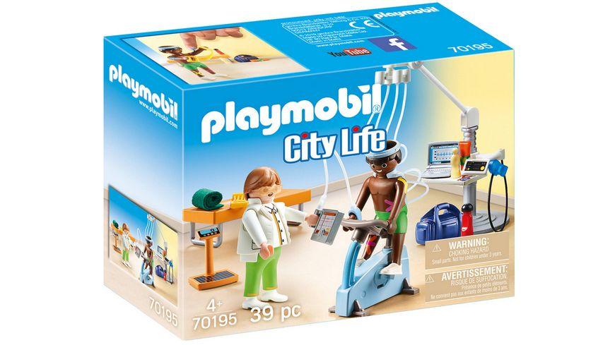 PLAYMOBIL 70195 - City Life - Beim Facharzt: Physiotherapeut