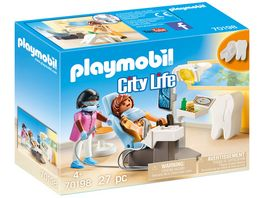 PLAYMOBIL 70198 City Life Beim Facharzt Zahnarzt