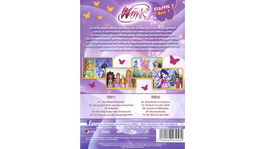 Winx Club Staffel 7 Box 1 2 DVDs