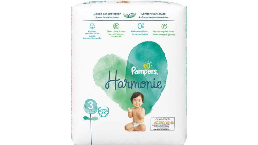 Pampers Windeln Harmonie Gr.3 Midi 6-10kg Tragepack 22ST