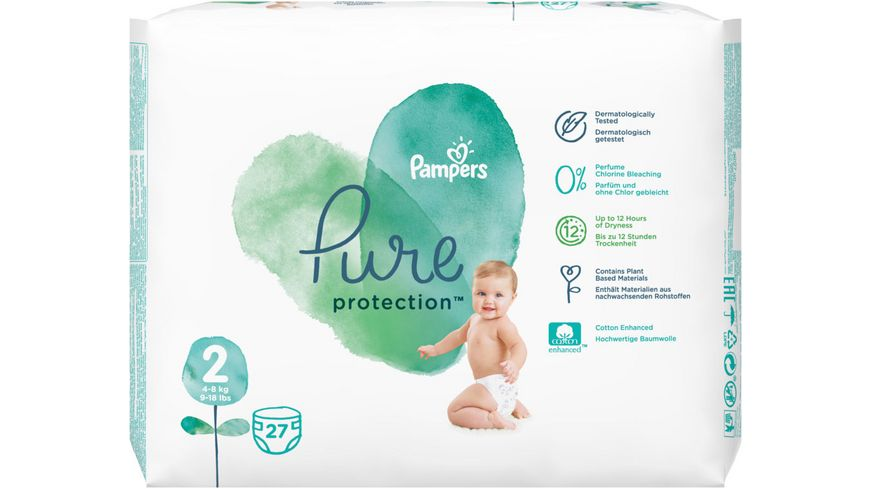 Pampers Pure Protection Groesse 2 4 8 kg