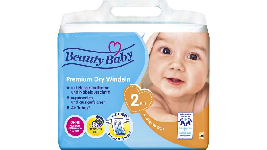 Beauty Baby Premium Dry Windeln Groesse 2 Mini 4 8 kg