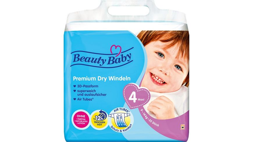 Beauty Baby Premium Dry Windeln Groesse 4 Maxi 9 14 kg
