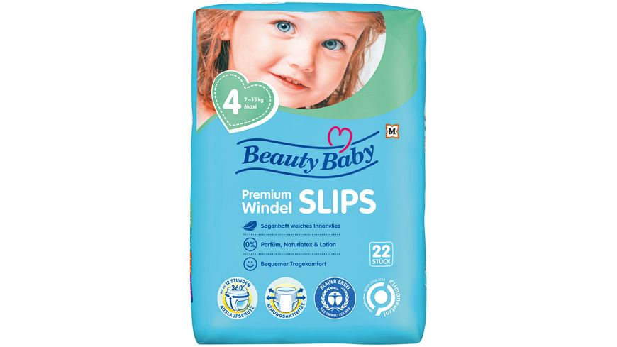 Beauty Baby Premium Windel Slips Groesse 4 Maxi 7 15 kg
