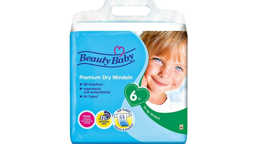 Beauty Baby Premium Dry Windeln Groesse 6 XL 13 kg