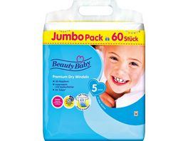 Beauty Baby Premium Dry Windeln Groesse 5 Junior JUMBO 11 16 kg