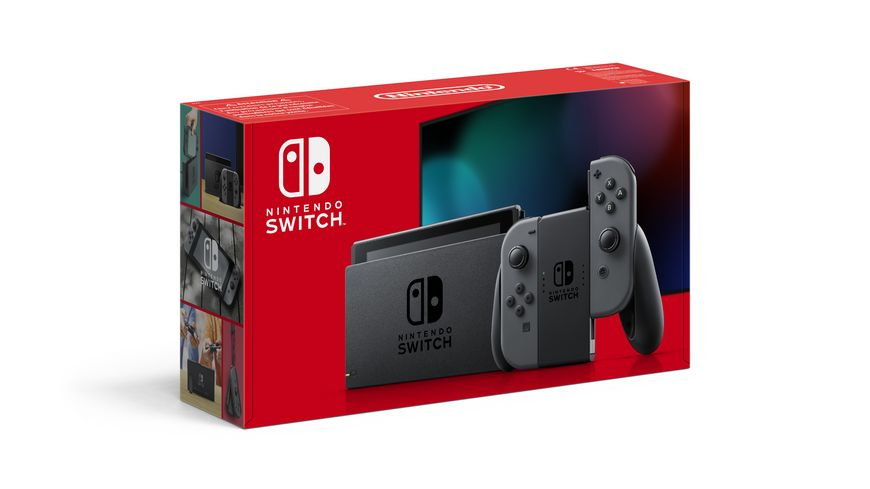 Nintendo Switch Konsole Grau neue Edition