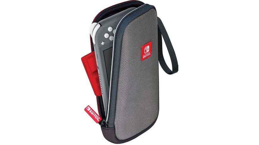 Switch Lite Slim Travel Case NLS115 Off Liz grey Gepolsterte Tasche inkl 1x 4 Spiele Game Boxen 1x 2 Micro SD Card Box