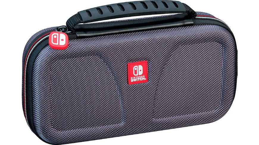Switch Lite Travel Case NLS140 Off Liz grey Transporttasche inkl 1x 4 Spiele Game Boxen 1x 2 Micro SD Card Box
