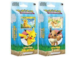 Pokemon Sammelkartenspiel Let s Play Themendeck 1 Stueck sortiert