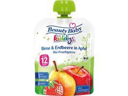 Beauty Baby Quetschie kiddys Bio Birne Erdbeere in Apfel
