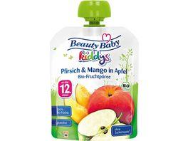 Beauty Baby kiddys Bio Fruchtpueree Pfirsich Mango in Apfel