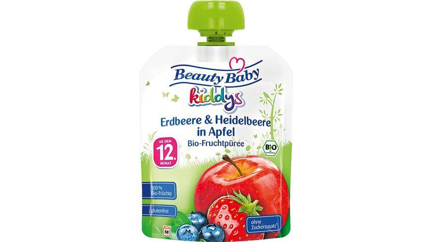 Beauty Baby kiddys Bio Fruchtpueree Erdbeere Heidelbeere in Apfel