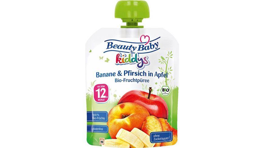 Beauty Baby kiddys Bio Fruchtpueree Banane Pfirsich in Apfel