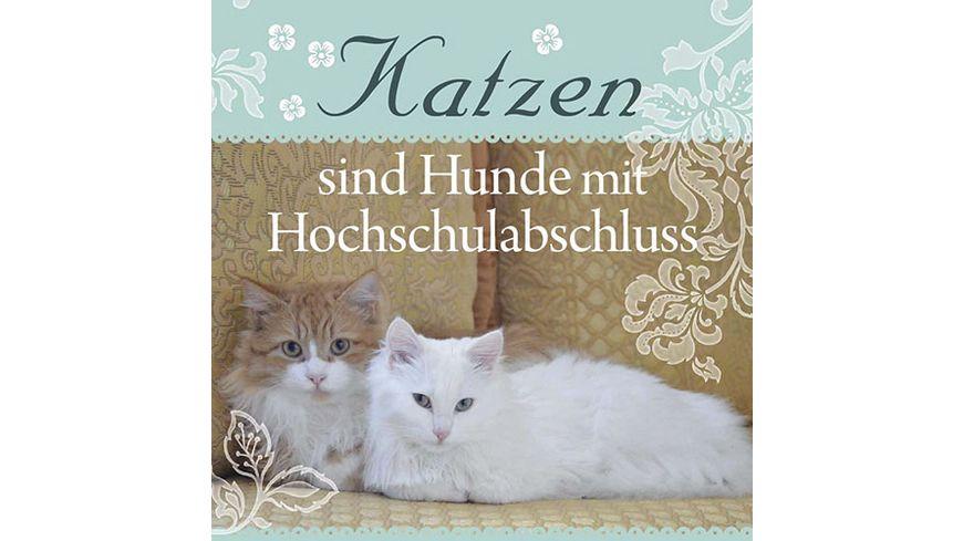 """H&H Romantisches Geschirrtuch """"Katzen sind Hunde..."""""""