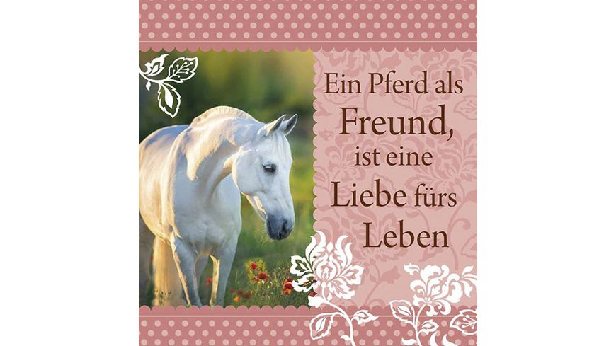 H H Romantisches Geschirrtuch Ein Pferd als Freund