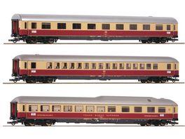 Roco 74135 3 tlg Set 1 Reisezugwagen Rheingold DB