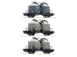 Roco 76093 3 tlg Set Silowagen DB