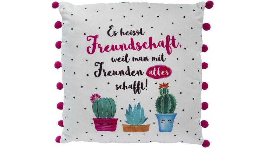 GRUSS CO Plueschkissen Freundschaft