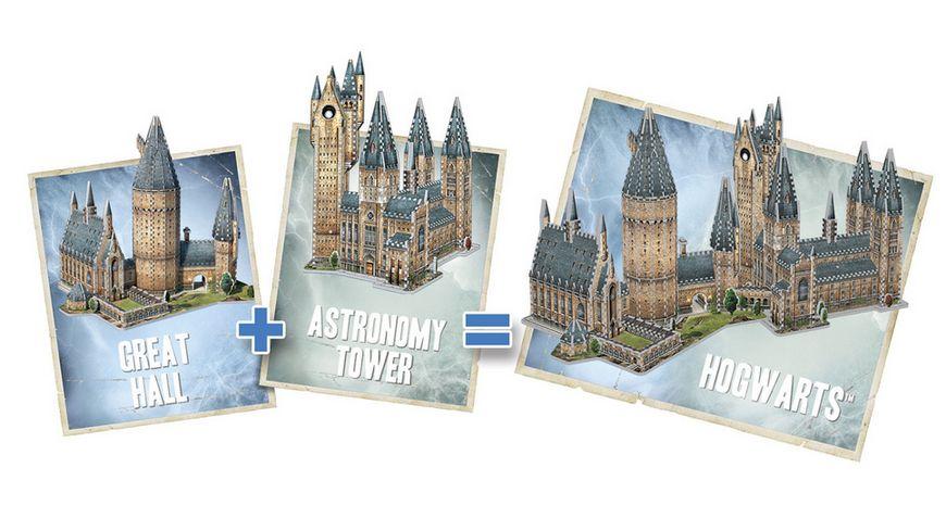Wrebbit 3D Puzzle Harry Potter 3D Puzzle Hogwarts Grosse Halle 850 Teile