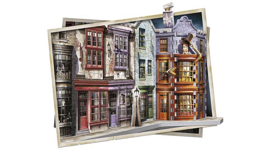 Wrebbit 3D Puzzle Harry Potter 3D Puzzle Winkelgasse 450 Teile