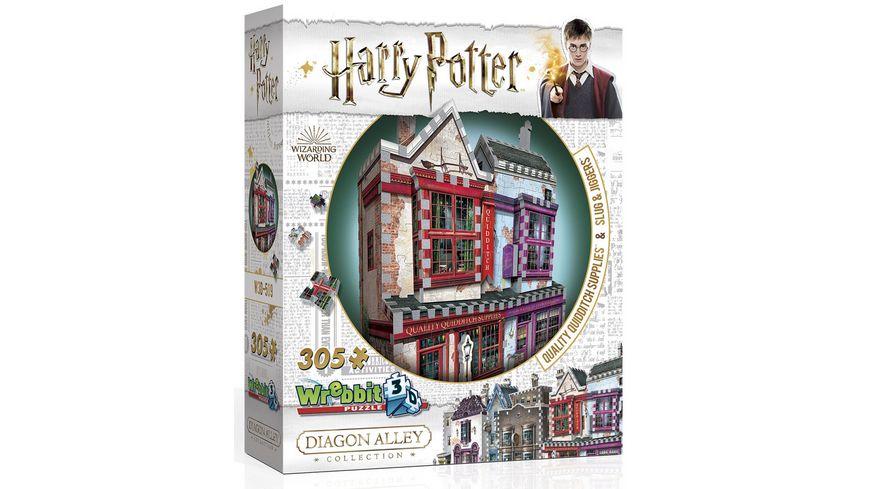 Wrebbit 3D Puzzle Harry Potter 3D Puzzle Qualitaets Quidditch Shop Apotheke 305 Teile