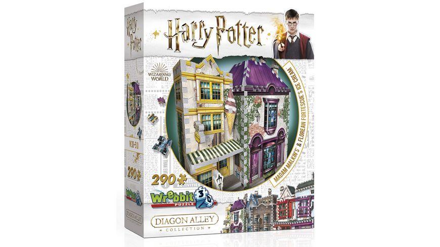 Wrebbit 3D Puzzle Harry Potter 3D Puzzle Madam Malkin s Anzuege Florean Fortescue s Eissalon 290 Teile