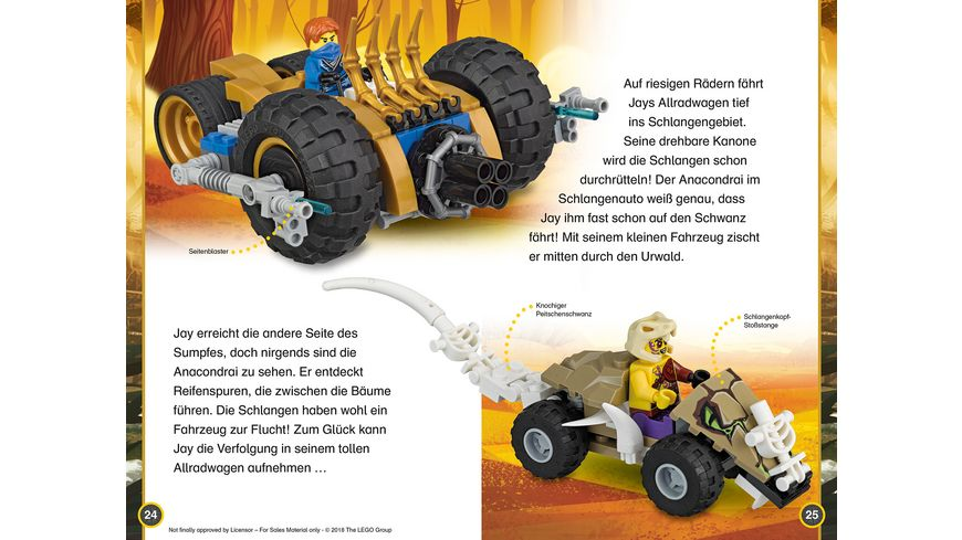 SUPERLESER LEGO NINJAGO Die grosse Verfolgungsjagd Sach Geschichten fuer Erstleser 2 Lesestufe