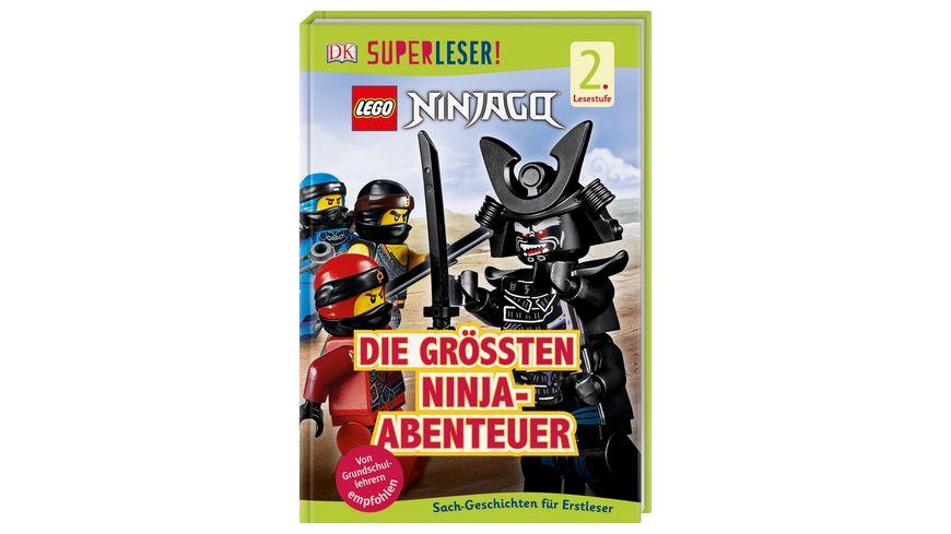 SUPERLESER LEGO NINJAGO Die groessten Ninja Abenteuer Sach Geschichten fuer Erstleser 2 Lesestufe