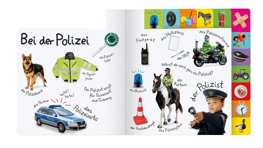 Erstes Lernen Berufe Pappbilderbuch mit Griff Register und ueber 100 Fotos ab 1 Jahr