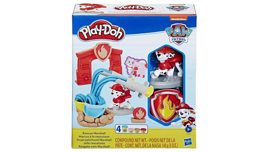Hasbro Play Doh Paw Patrol Feuerwehrhund Marshall