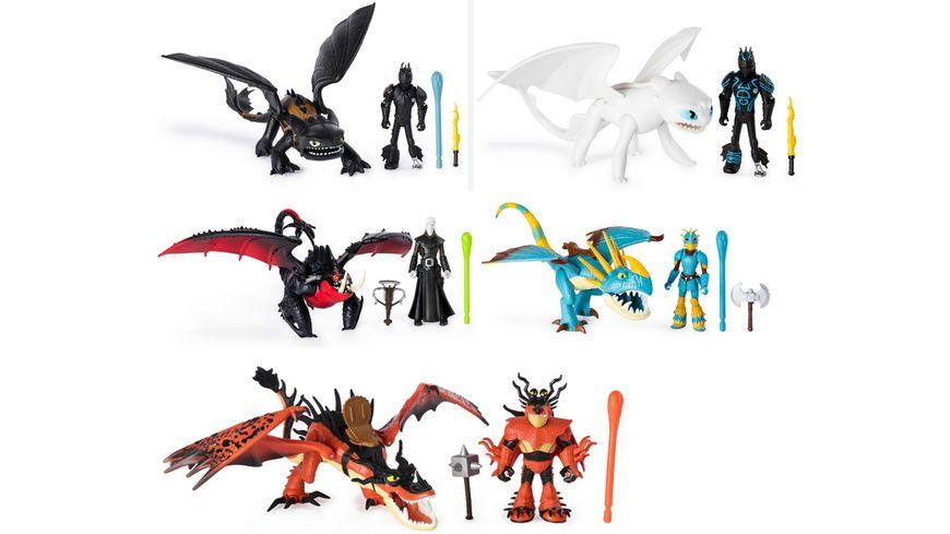 Spin Master Dragons Drache und bewaffnete Wikinger Figur 1 Stueck sortiert