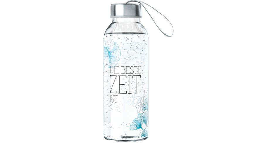 Geschenk für Dich Trinkflasche Die beste Zeit ist jetzt