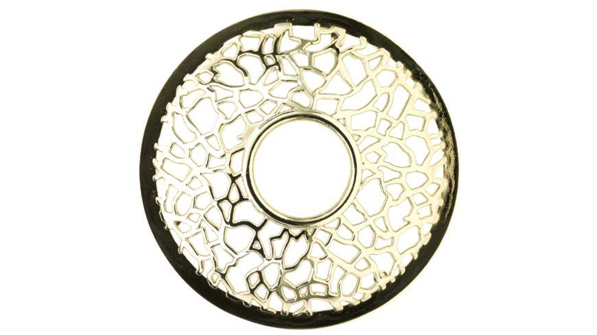 YANKEE CANDLE Topper Illuma Lid Matrix Brushed Silver