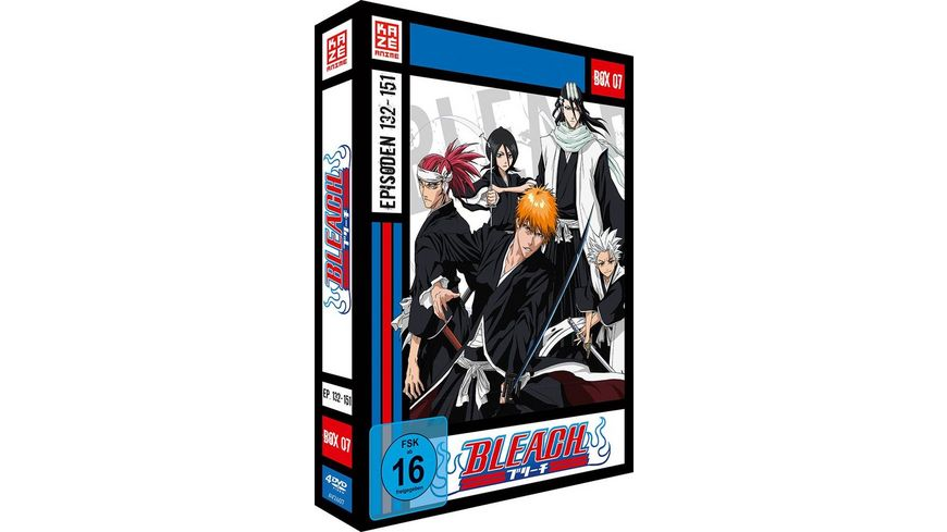 Bleach TV Serie DVD Box 7 Episoden 132 151 4 DVDs