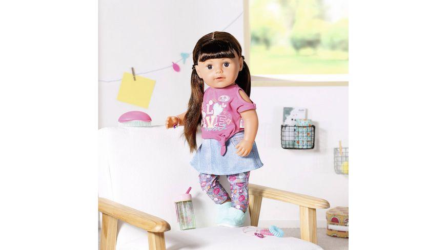 Zapf Creation BABY born Soft Touch Sister bruenett 43cm