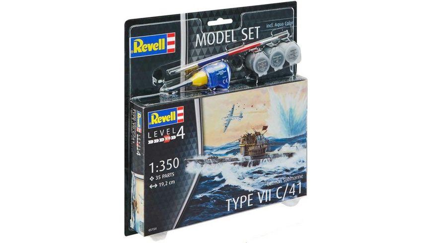 Revell 65154 Model Set German Submarine Type VII C 41